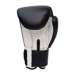 custom black and white boxing gloves