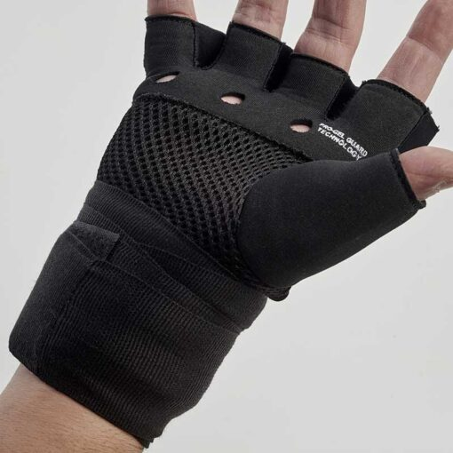 black boxing gel hand wraps