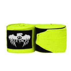 neon green boxing hand wraps