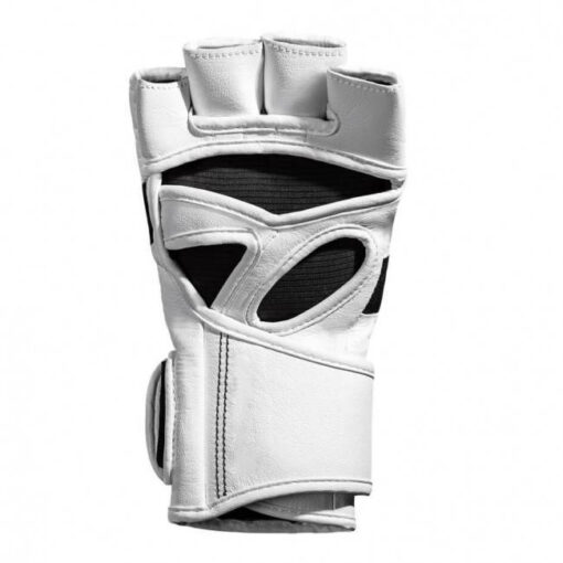 white customized logo mma gloves