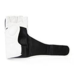 custom mma gloves white and black