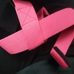 personalised powerlifting wrist straps pink