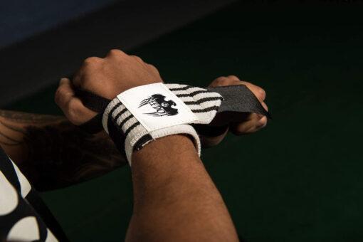 White wrist wraps